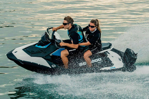 Man and Woman on a 2020 Sea-Doo Spark